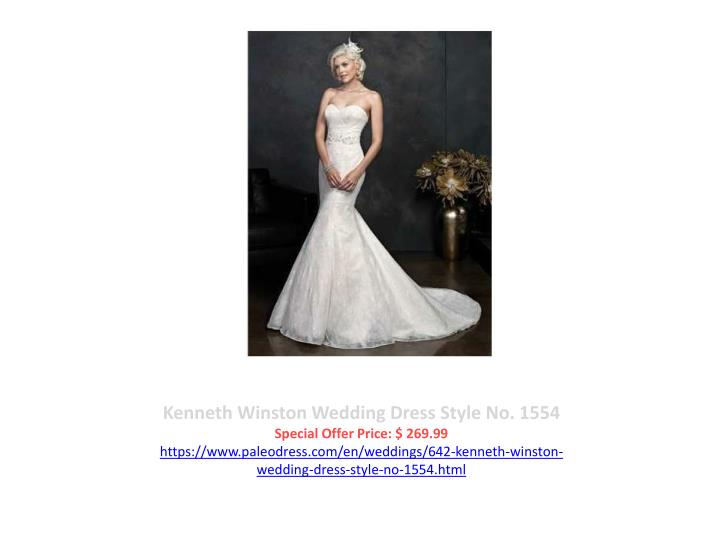 Kenneth Winston Wedding Dress Style No. 1554