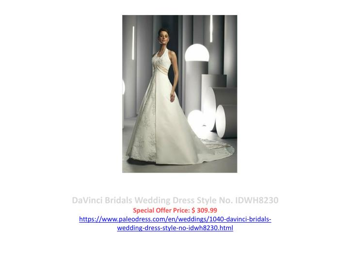 DaVinci Bridals Wedding Dress Style No. IDWH8230