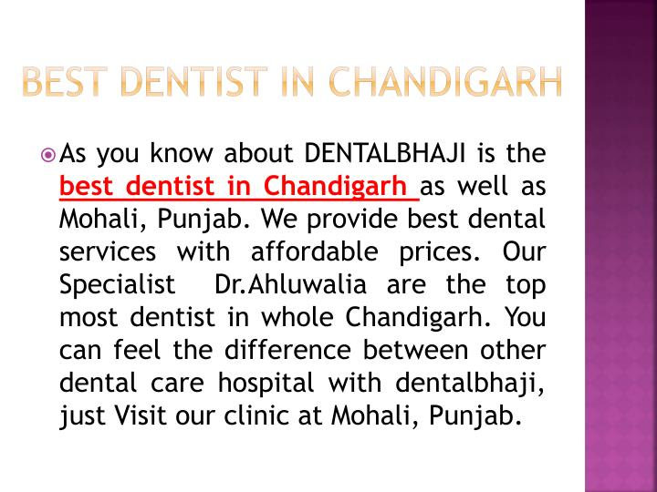 Best Dentist in Chandigarh