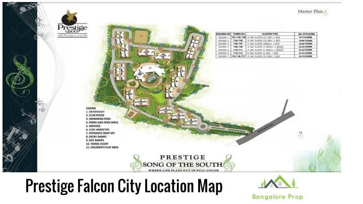 Prestige Falcon City Location Map