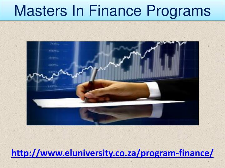 Masters In Finance Programs