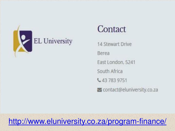 http://www.eluniversity.co.za/program-finance/
