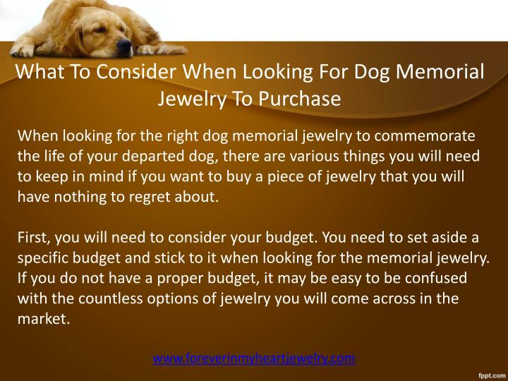 What To Consider When Looking For Dog Memorial Jewelry To Purchase