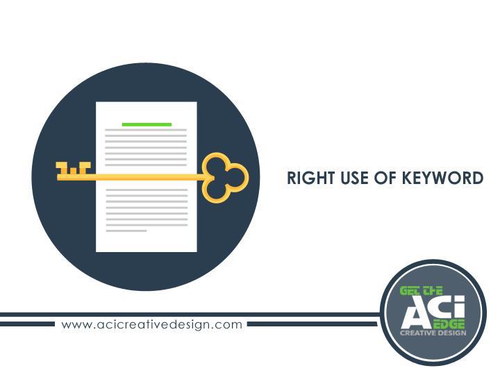 Right Use of Keyword