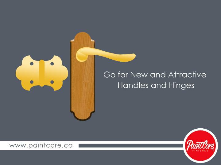 Go for New and Attractive Handles and Hinges