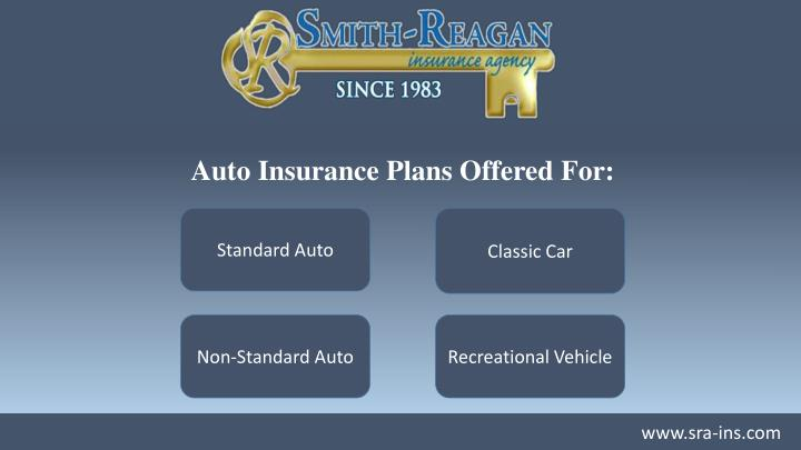 Auto Insurance Plans Offered For: