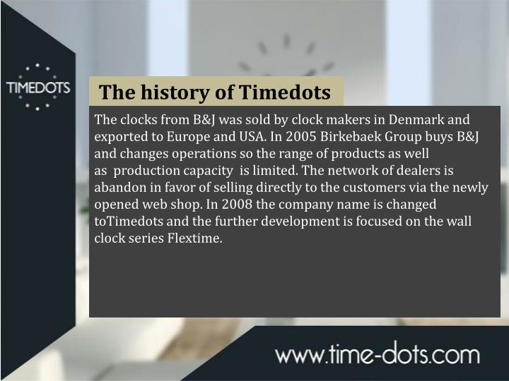 The history of Timedots