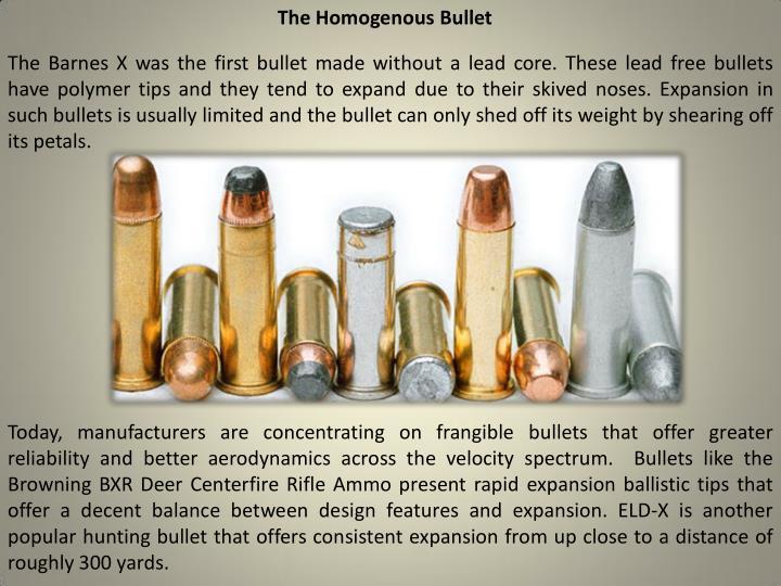 The Homogenous Bullet