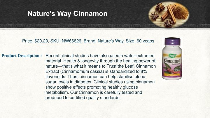 Nature s way cinnamon