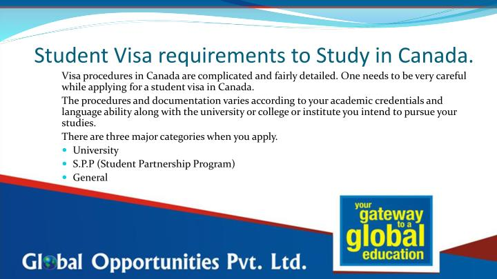 Student Visa requirements to Study in Canada.