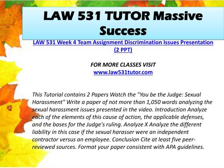 LAW 531 TUTOR Massive Success