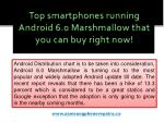 top smartphones running android 6 0 marshmallow that you can buy right now