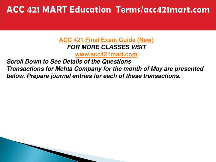 Acc 421 mart education terms acc421mart com2