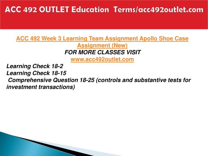ACC 492 OUTLET Education  Terms/acc492outlet.com