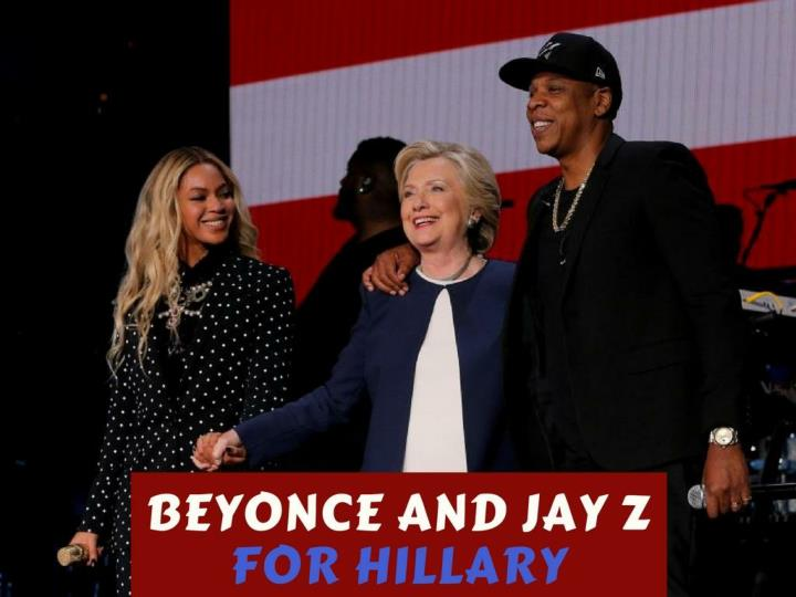 Beyonce and jay z for hillary