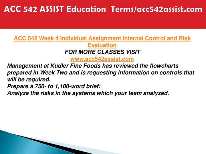 ACC 542 ASSIST Education  Terms/acc542assist.com