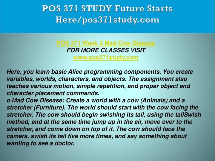 POS 371 STUDY Future Starts Here/pos371study.com