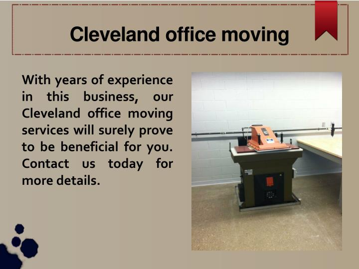 Cleveland office moving