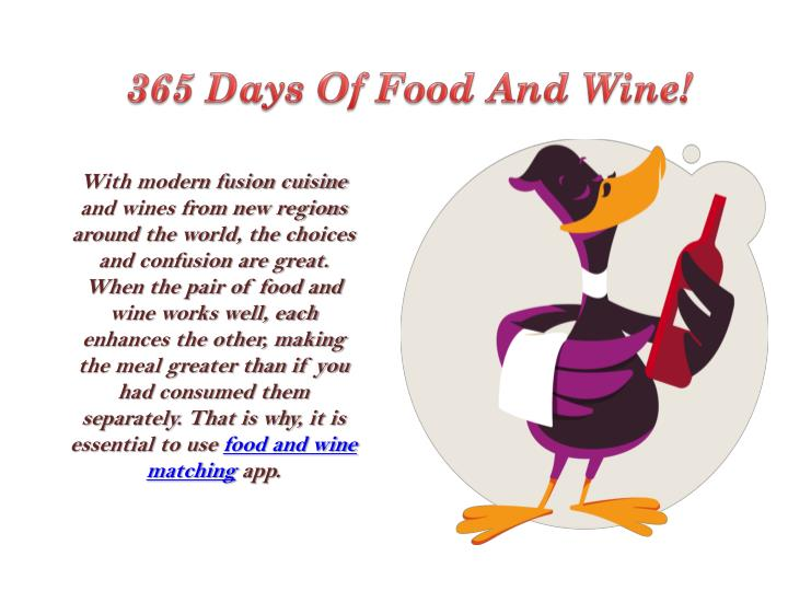 365 Days Of Food And Wine!