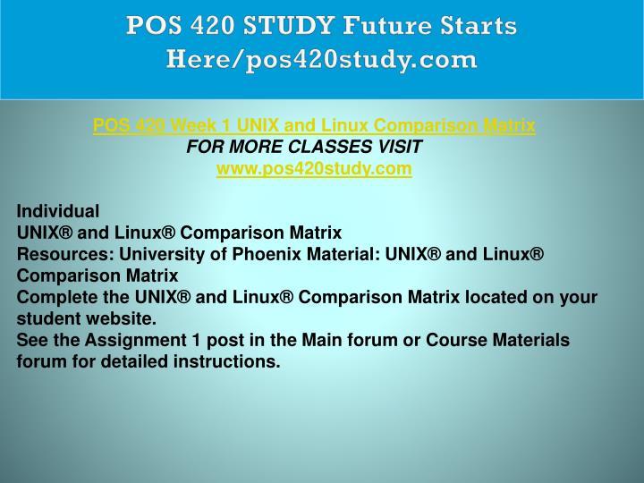 POS 420 STUDY Future Starts Here/pos420study.com