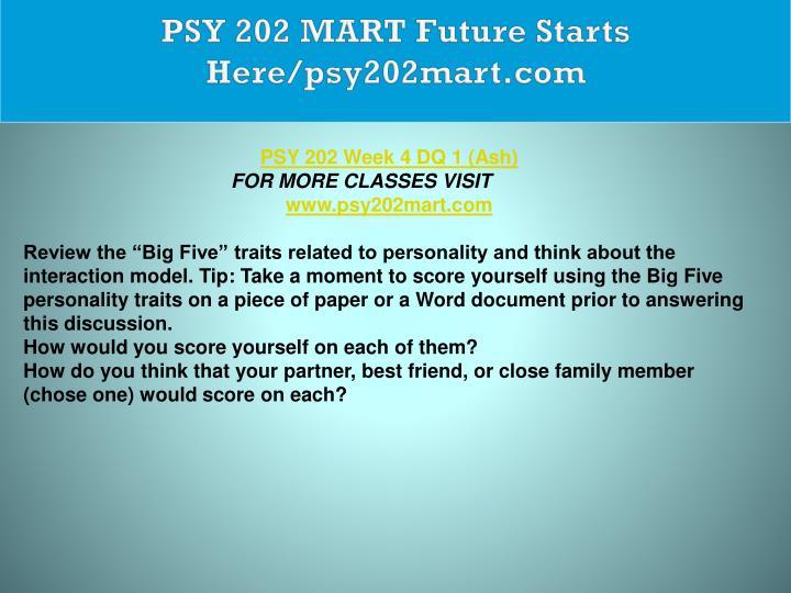 PSY 202 MART Future Starts Here/psy202mart.com
