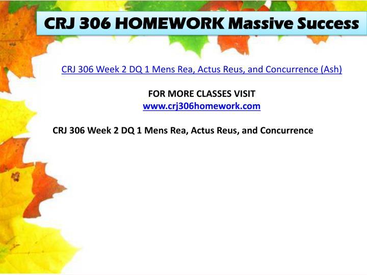 CRJ 306 HOMEWORK Massive Success
