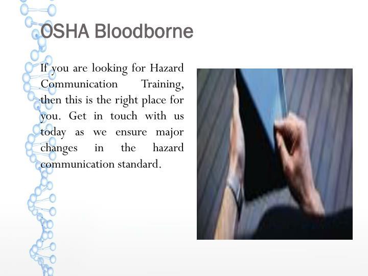 OSHA Bloodborne