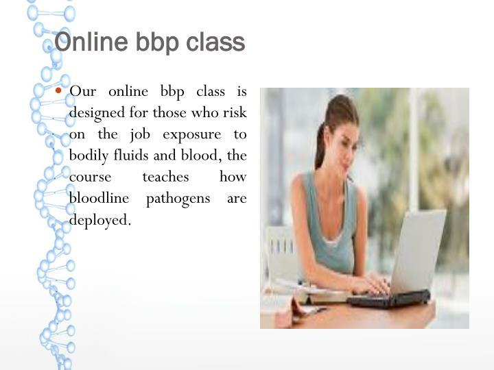 Online bbp class