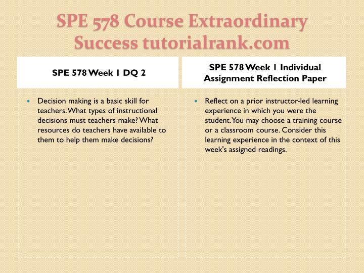 SPE 578 Week 1 DQ 2