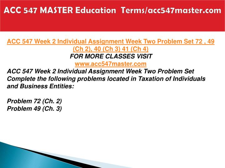 ACC 547 MASTER Education  Terms/acc547master.com