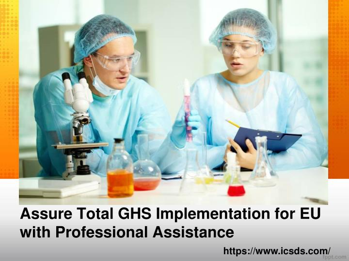 Assure total ghs implementation for eu with professional assistance