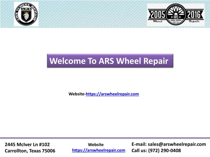 Welcome To ARS Wheel Repair