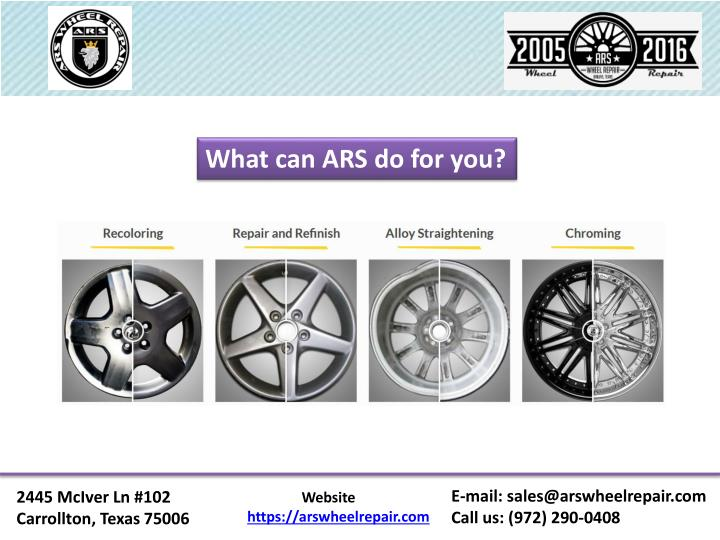 What can ARS do for you?