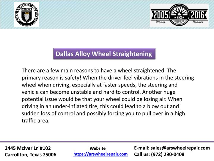Dallas Alloy Wheel Straightening
