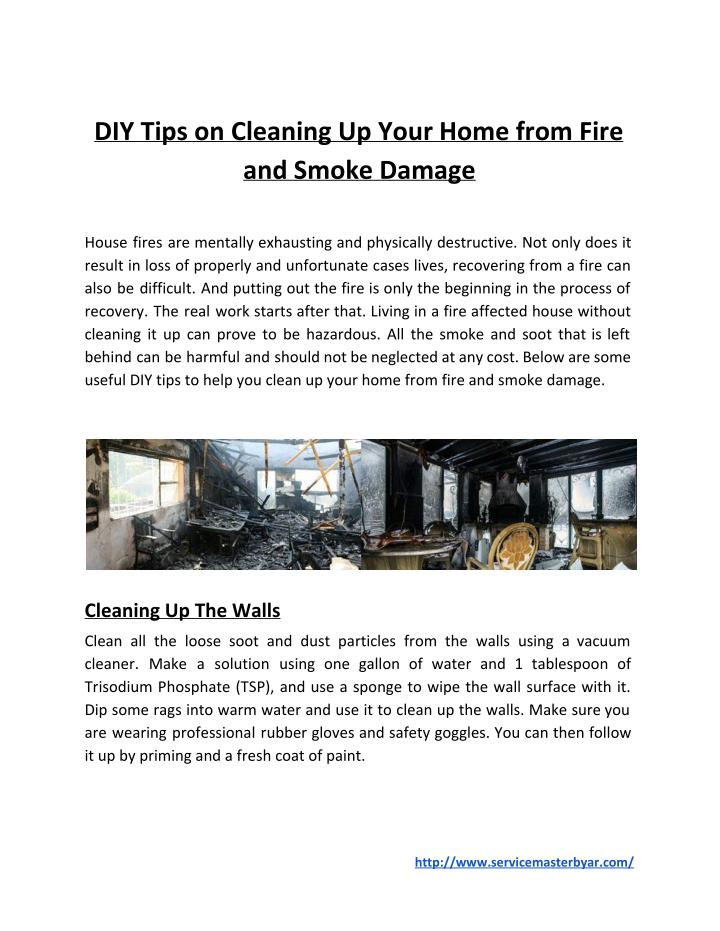 DIY Tips on Cleaning Up Your Home from Fire