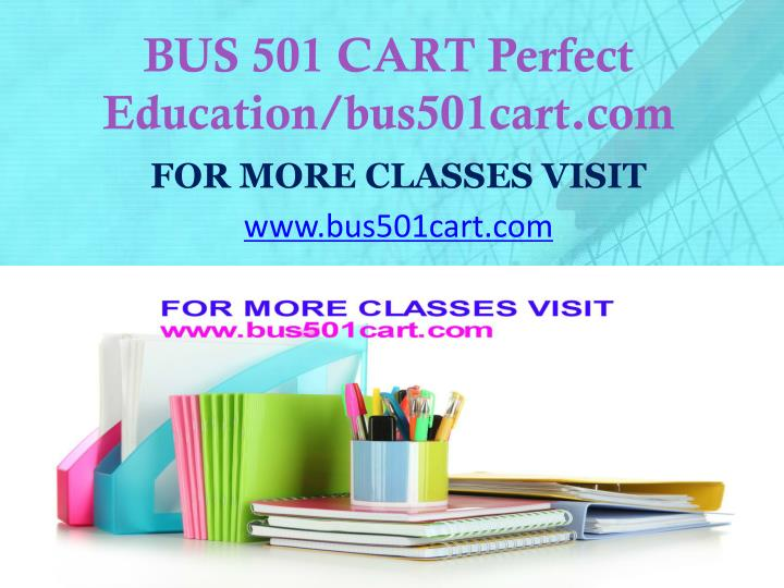 Bus 501 cart perfect education bus501cart com