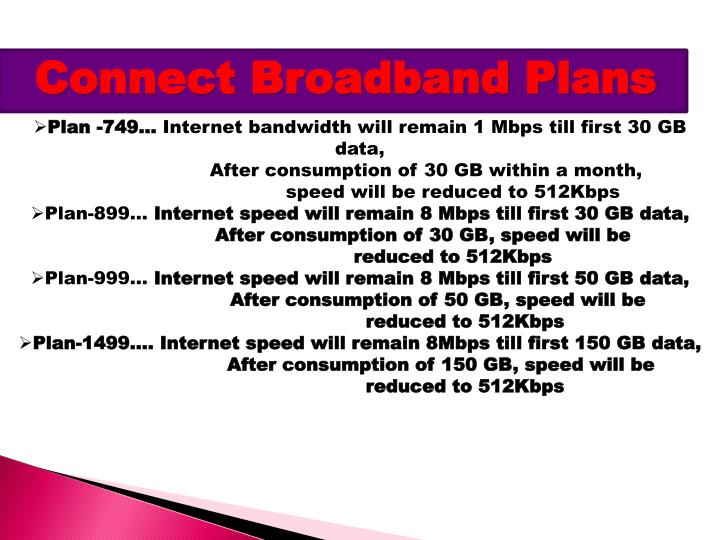 Connect Broadband Plans