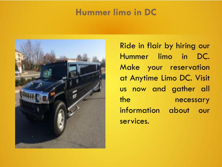 Hummer limo in DC