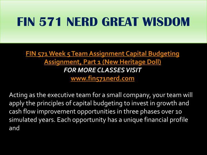 FIN 571 NERD GREAT WISDOM
