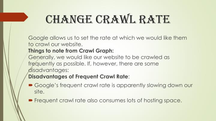 Change crawl rate