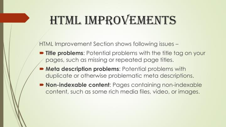 Html improvements