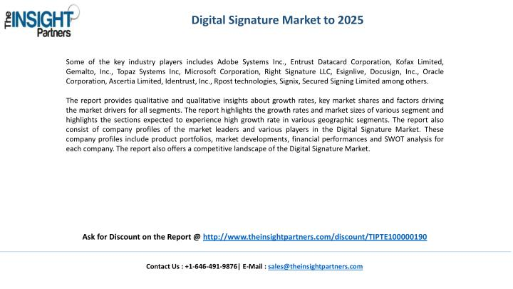 Digital Signature Market to 2025