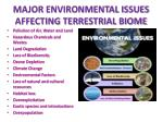 major environmental issues affecting terrestrial biome