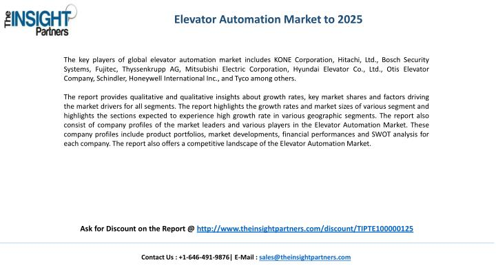 Elevator Automation Market to 2025