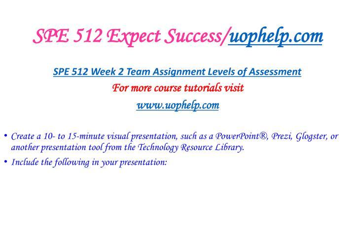 SPE 512 Expect Success/