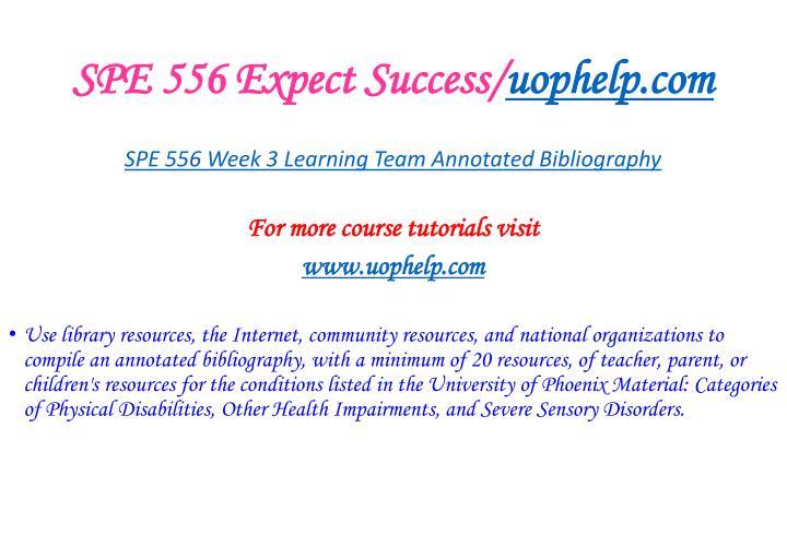 SPE 556 Expect Success/
