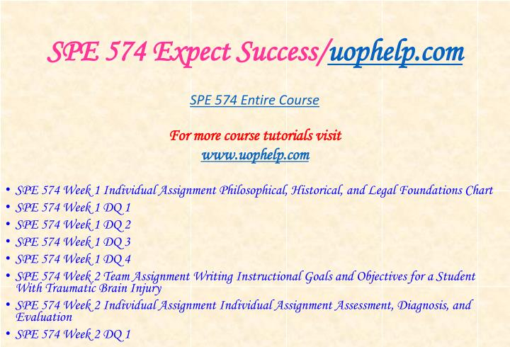 Spe 574 expect success uophelp com1