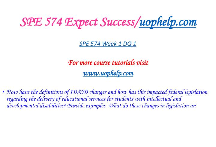 Spe 574 expect success uophelp com2