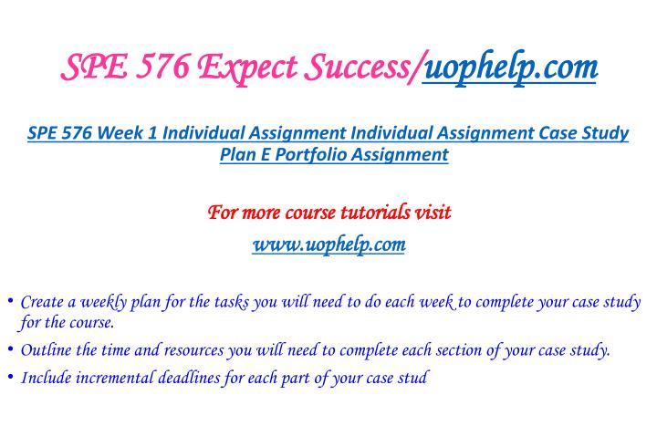SPE 576 Expect Success/