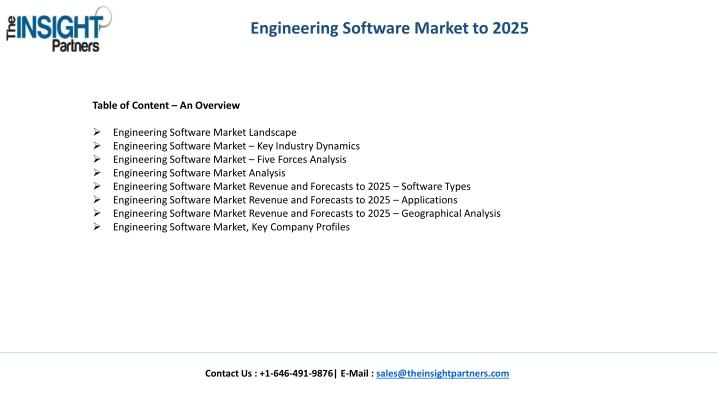 Engineering Software Market to 2025